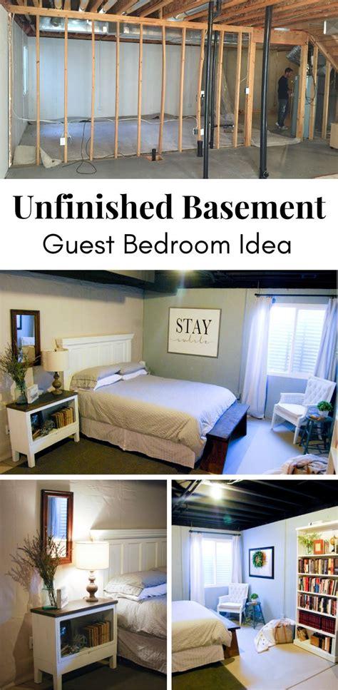 unfinished basement guest bedroom emilys project list