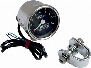 Drag Specialties 8000 Rpm Chrome Electronic Tachometer
