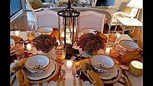 Einfache Herbstdeko Tisch : herbst tischdeko ideen leicht zum basteln youtube ~ Markanthonyermac.com Haus und Dekorationen
