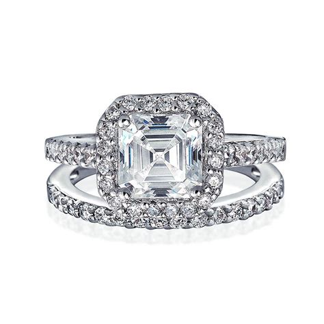 Great Gatsby Inspired Antique Style Cz Engagement Ring