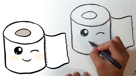 Cómo Dibujar Rollo De Papel De Baño Kawaii