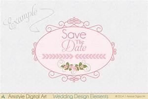 ribbon amistyle digital art With wedding invitation header design