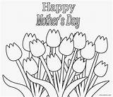 Mothers Coloring Pages Happy Printable sketch template