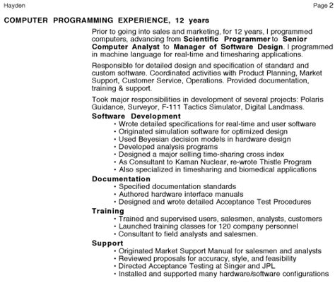 Freelance It Consultant Resume by Personal Resume Page 2 Management Consulting Freelance