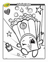 Popcorn Coloring Pages Shopkin sketch template