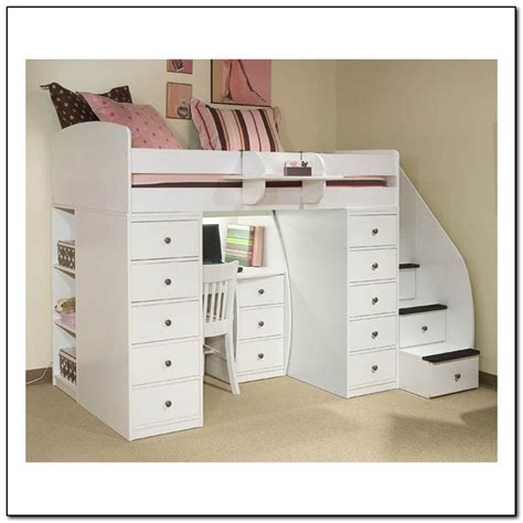 bunk beds with stairs and desk loft bed with desk and stairs beds home design ideas