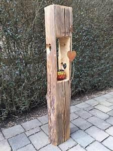 Säulen Aus Holz : holzlaterne aus alten holzbalken mit herzausschnitt holzf chse gbr ~ Orissabook.com Haus und Dekorationen