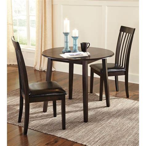 Ashley Hammis 3 Piece Dining Room Set In Dark Brown D310