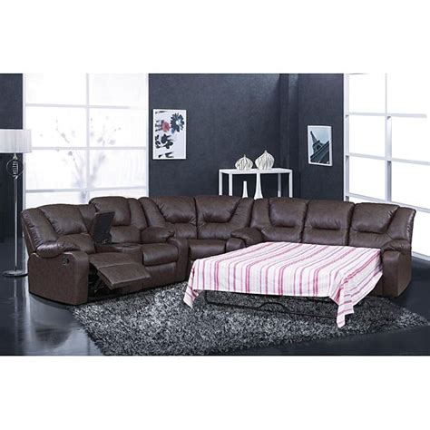 Brown Sectional Sleeper Sofa by Versatile And Functional This Temper Reclining Sectional