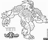 Yeti Invizimals Shadow Coloring Zone Pintar Printable Colouring Creature Colorare Disegni Malvorlagen Ausmalbilder Ombra Drawing Sketch Sketches Max Coloriage Kleurplaat sketch template