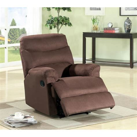 Microfiber Recliner by Brown Microfiber Recliner S6017 The Home Depot