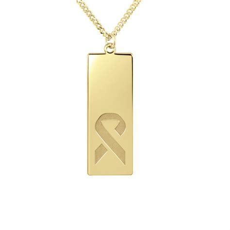 cancer ribbon logo dog tag