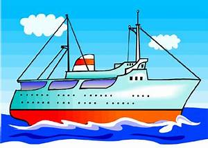 Cruise Ship clipart motor boat - Pencil and in color ...
