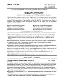 resume for elementary assistant elementary school principal resume best resume collection
