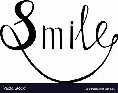 Inspirational Happy Smile Vector Quote Royalty