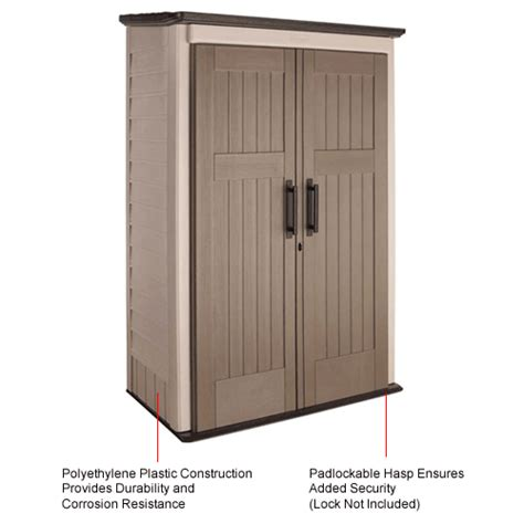 buildings storage sheds sheds plastic rubbermaid 1887157 large vertical storage shed 31 quot l