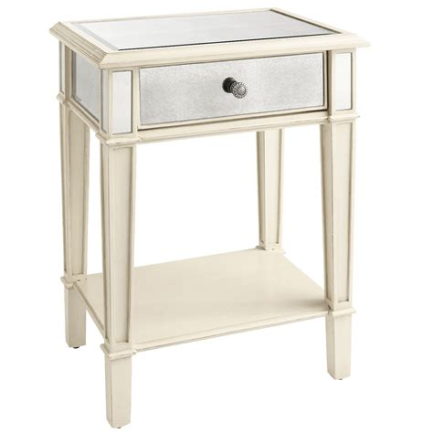 hayworth mirrored dresser antique white hayworth mirrored antique white nightstand pier 1 imports