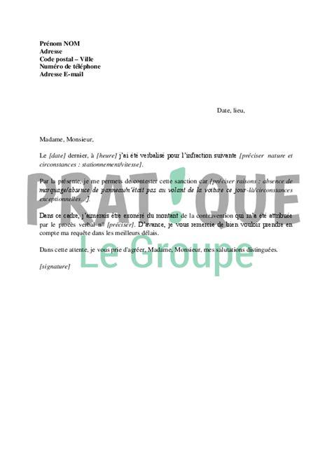 bas de cuisine lettre de contestation de contravention pratique fr