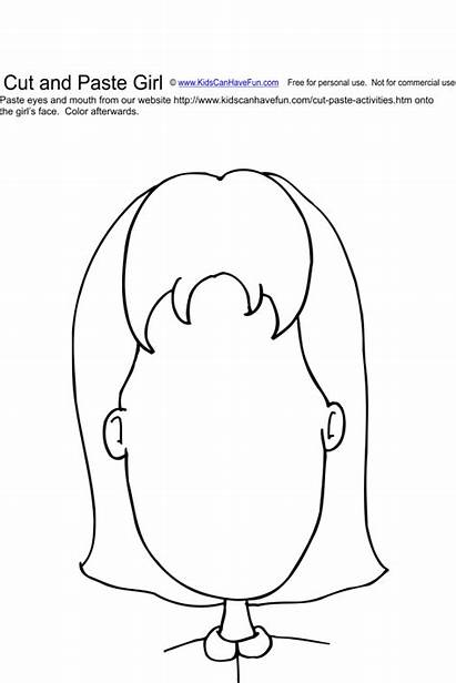 Paste Cut Clipart Face Craft Activity Worksheets