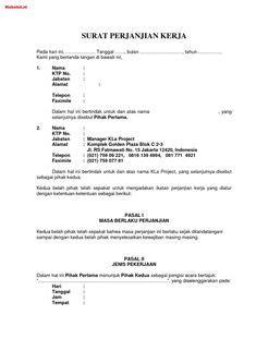 Contoh Surat Perjanjian Kontrak Kerja Cleaning Service - Kumpulan Surat Penting