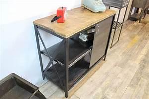Meuble Cuisine Style Industriel : meuble style industriel loft industeel ~ Teatrodelosmanantiales.com Idées de Décoration