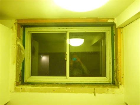 Adding Expanding Foam To Basement Window Surround