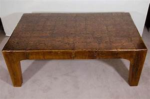 a mid century solid wood block rectangular shaped coffee With solid block wood coffee table