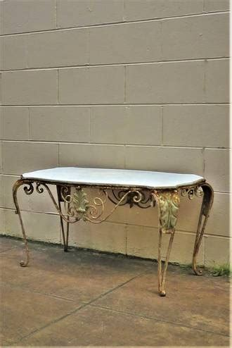 So, no matter what type of furniture you need, we bring you the best and make sure that you get these at the most affordable prices. French Wrought Iron & Marble Topped Conservatory or Coffee Table $950   Yvonne Sanders Antiques ...