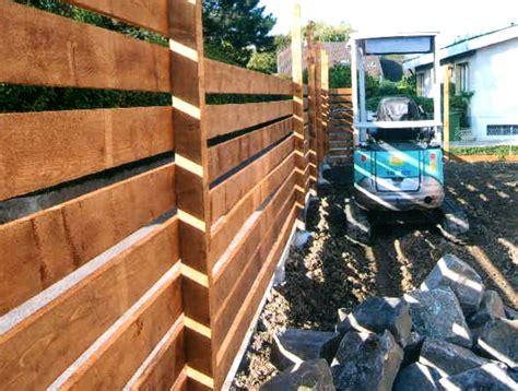 palissade en bois brise vue maillefer paysagiste sa 232 ve