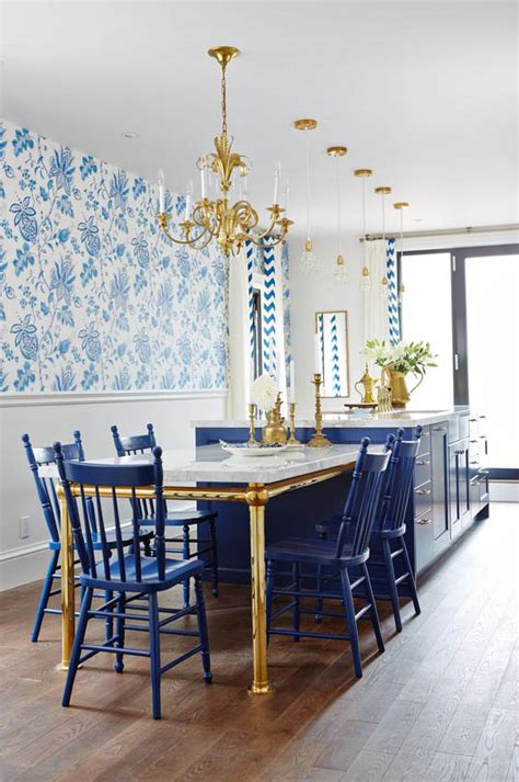 blue gold interior decor room white gold and navy kitchen