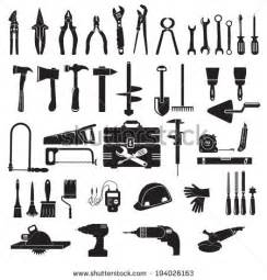 Silhouette of Construction Tools Vector