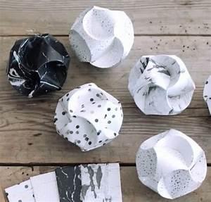 Boule En Papier : remue m ninge boules de no l en papier ~ Teatrodelosmanantiales.com Idées de Décoration