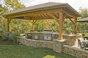 Covered, Outdoor, Grill, And, Bar