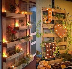wandgestaltung ideen mit paletten freshouse With balkon ideen paletten