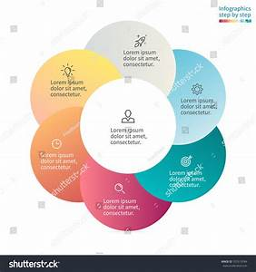 Circular Infographics Step By Step With Colored Circles