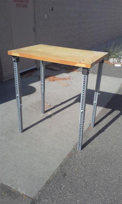 adjustable desk legs best 25 adjustable height table ideas on blue