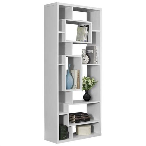 White Bookcase by Monarch Hollow 72 Quot White Bookcase Ebay