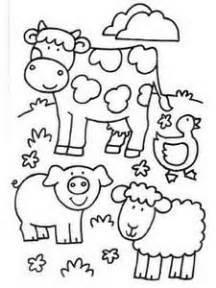 animales farm animals  coloring  pinterest
