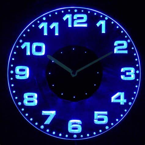 neon lighted wall clocks