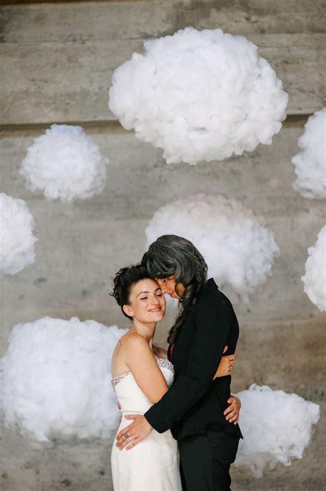 surreal diy cloud wedding backdrop