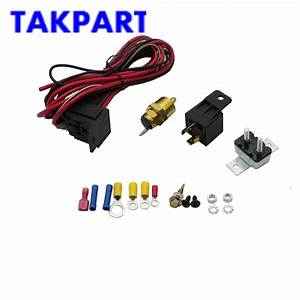 Takpart Electric Fan Wiring Install Kit Complete