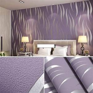 natural roll 3d embossed flocking waves wallpaper on luulla With 4 murs papier peint chambre