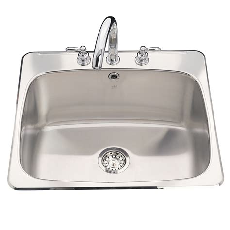 Shop Kindred Stainless Steel Above Counter Laundry Sink At