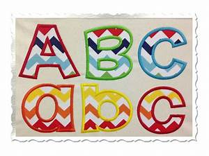 happy applique machine embroidery alphabet font With embroidery applique letters