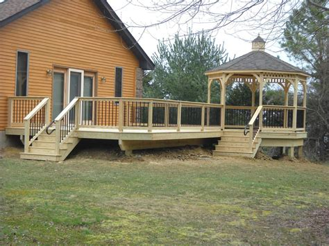 deck with gazebo your deck options options on deck railing lighting