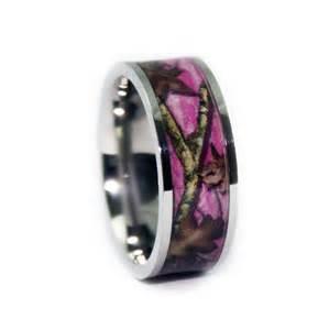 pink camo wedding rings flat titanium camouflage band by 1 camo - Pink Camo Wedding Ring