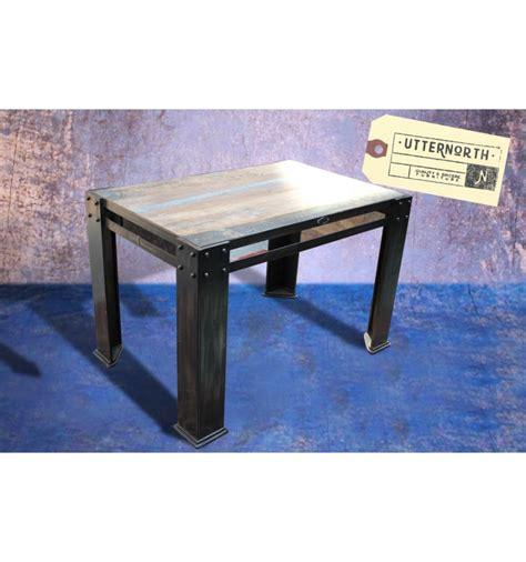 table en bois industriel table en bois et acier vintage industriel