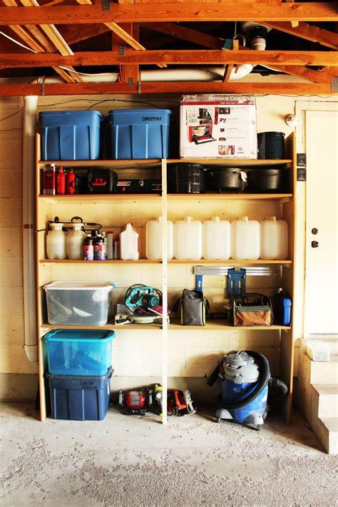diy fast  easy built  wall garage shelves