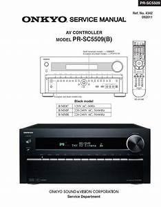 Onkyo Pr Sc5509 Av Controller Service Manual