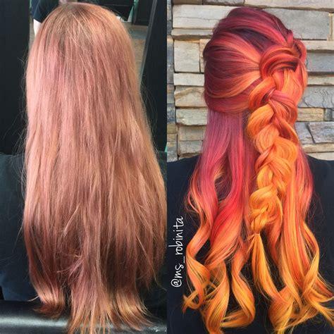 How To Fiery Sunset Color Melt Hair Color Modern Salon